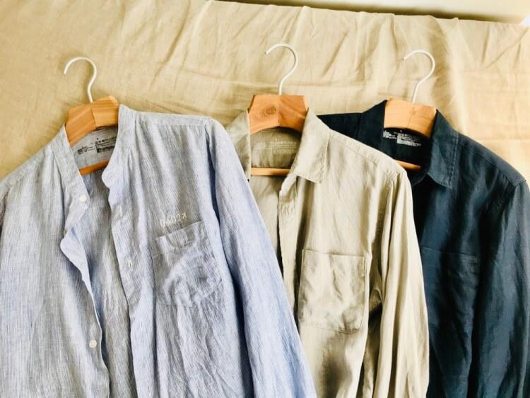 無印良品のフレンチリネンシャツ