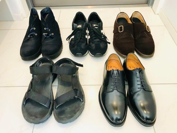 ミニマリストの靴一覧